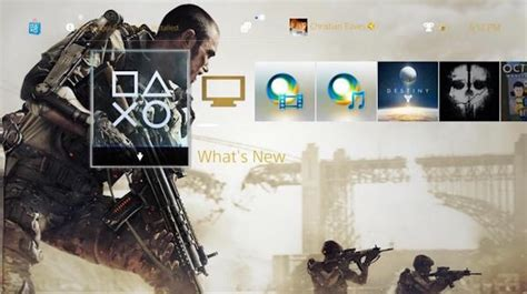 free advanced warfare theme now available for ps4 users intel