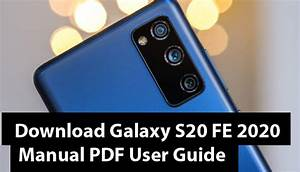 Download Galaxy S20 Fe 2020 Manual Pdf User Guide
