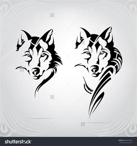 silhouette  head  wolf print wolf silhouette