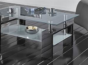 Table Basse Verre Design : table de salon en verre noir ou blanc design wilma 2 ~ Teatrodelosmanantiales.com Idées de Décoration
