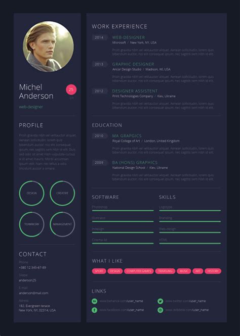 creative resume design tips  template examples