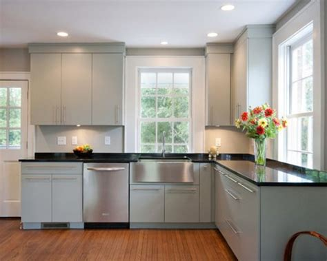 Flat Panel Kitchen Cabinets  Houzz