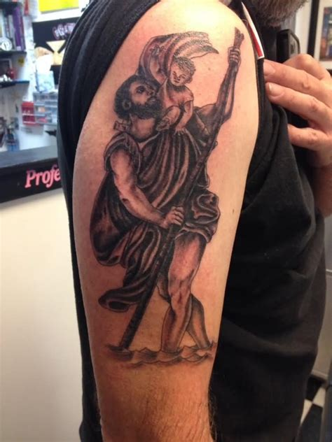 religious saint christopher tattoos