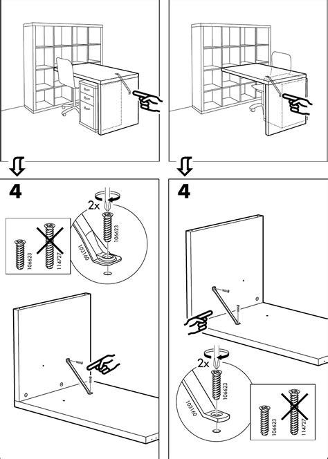 expedit bureau handleiding ikea expedit bureau pagina 6 8 dansk