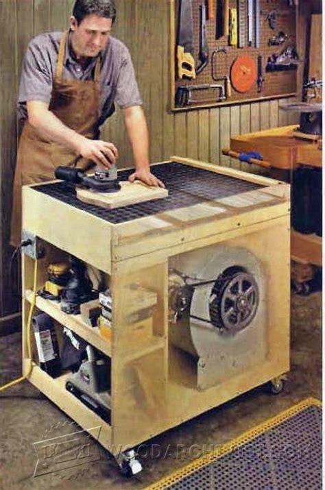 dust  downdraft sanding table plans woodarchivist