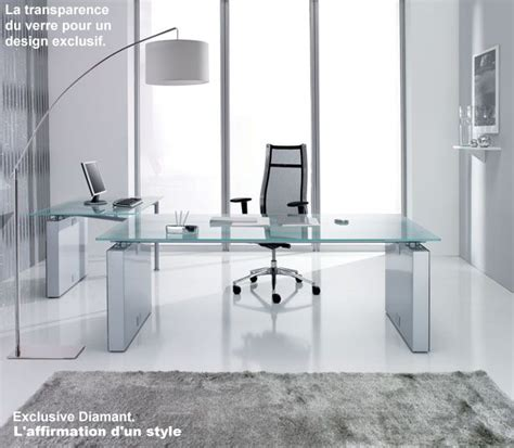 bureau design verre meubles de direction bureau design contemporain plateau