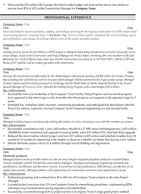 Resume For Construction Office Manager by Construction Manager Resume Sle Template