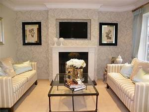 Click to see a larger image for Feature wall wallpaper living room