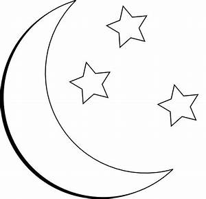40, Best, Half, Moon, And, Stars, Tattoo, Outlines, Images, On, Pinterest