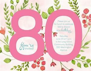 Besinnliches Zum 80 Geburtstag : einladung zum 80 geburtstag vorlagen gratis einladungskarten kostenlos ausdrucken ~ Frokenaadalensverden.com Haus und Dekorationen