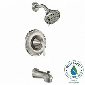 moen darcy single handle 5 spray tub and shower faucet With moen darcy bathroom faucet