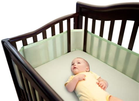 safe crib bumpers breathable mesh crib liner from breathablebaby 174 included