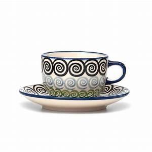 Tasse Mit Untertasse : 4h bunzlauer keramik tasse mit untertasse 200ml cgzc unikat modern ~ Sanjose-hotels-ca.com Haus und Dekorationen