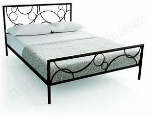Cadre De Lit 160x200 : cadre de lit resistub lit amara 160x200 col choco pas cher ~ Nature-et-papiers.com Idées de Décoration