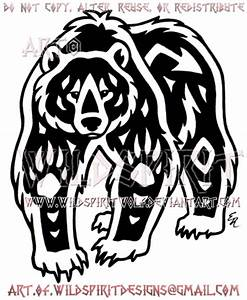 Navajo Grizzly Bear Tribal Design by WildSpiritWolf on ...