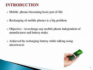 Ppt On Wireless Charging Of Mobile Using Microwaves