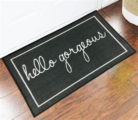Grey Hello Gorgeous Welcome Novelty Door Mat