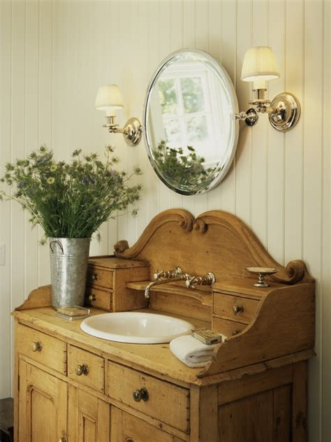 salle de bain style antique simple details dresser as bathroom vanity