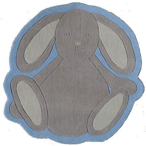 tapis lapin tartine et chocolat bleu toulemonde bochart