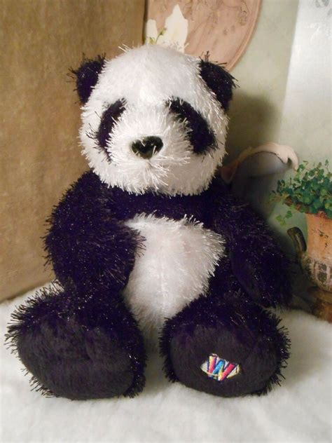 ganz webkinz hm panda plush animal  code nice condition  ebay