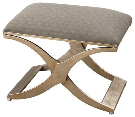 modern ottomans and benches uttermost kiah modern small bench 23207 contemporary