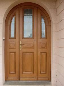 porte d39entree bois ma menuiserie With porte d entrée alu avec meuble bas blanc salle de bain