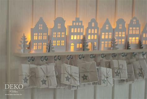 diy adventskalender basteln mit suessen beleuchteten mini haeusern deko kitchen