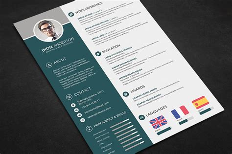 Photoshop Resume Pdf by Professional Resume Cv Template Free Psd Files