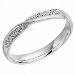 womens 18ct white gold twist wedding ring With womens 18ct gold wedding rings