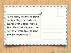 How To Write An Itinerary Sample How To Write A Postcard With Sample Postcards Wikihow
