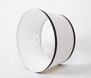 Lampenschirm Weiß Rund : lampenschirm wei schwarz form rund 45 cm ~ Indierocktalk.com Haus und Dekorationen