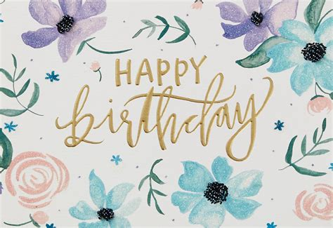 Lovely You Painted Flowers Birthday Card - Greeting Cards ...