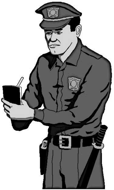 policeman with gun clipart black and white professions png html