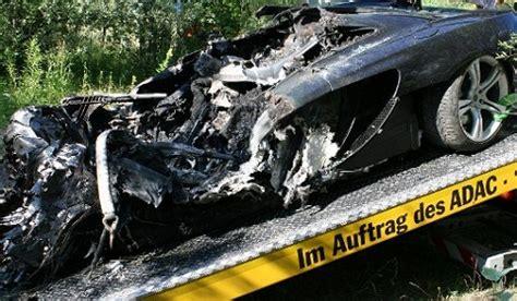 mclaren p1 crash test mclaren mp4 12c test drive ends in crash fire