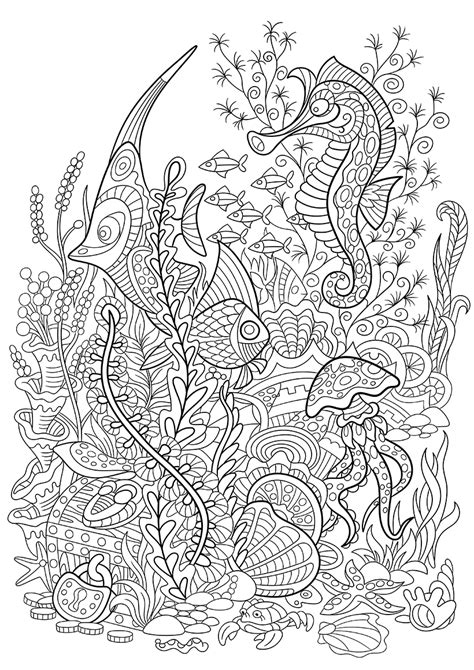 seabed coloring pages    print