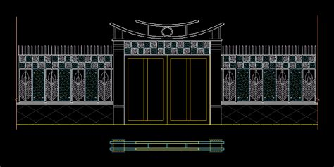 front door drawing elevation  dwg elevation  autocad