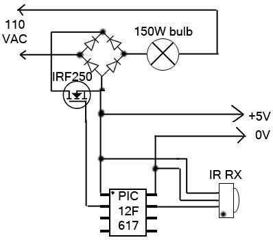 Remote Control Light Dimmer Using Pic Microcontroller