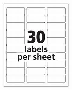 Avery easy peel clear 1 x 2 5 8 inch address labels 750 for Avery template 5630