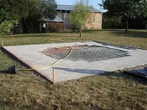 dallage piscine hors sol forum jardin assainissement With faire une dalle pour piscine