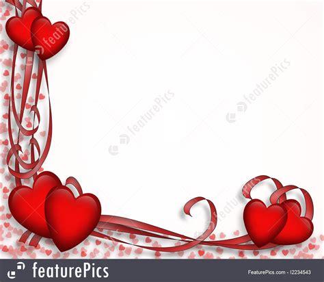 illustration  valentine hearts  ribbons border