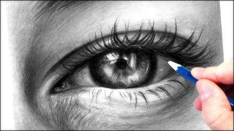 draw  realistic eye  graphite pencils