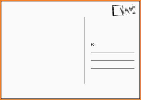 blank postcard template free printable postcard templates