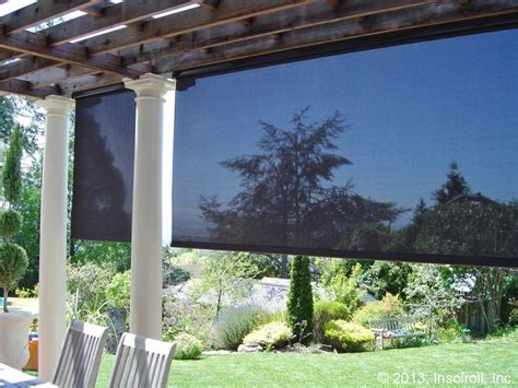 exterior patio shades insolroll exterior and insect shades gordon s window decor