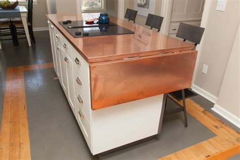 kitchen island with fold out table and chris craftsman kitchen portland by 9436