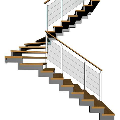treppe zweilaeufig und halbgewendelt einrichten planen