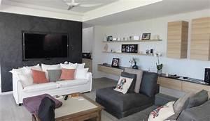 Meuble De Rangement Salon : meubles de salon et tag res murales cr ation sur mesure ~ Teatrodelosmanantiales.com Idées de Décoration