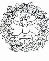Elf Coloring Shelf Pages Christmas Printable Drawing Buddy Night Getdrawings Ears Getcolorings Cartoon Coloringfolder Magical Colorings sketch template