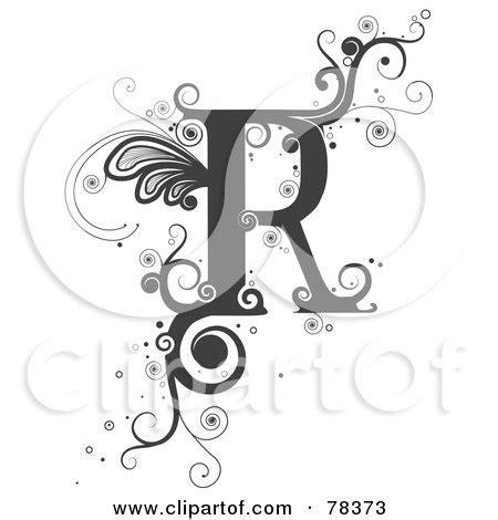 royalty  rf clipart illustration   vine alphabet letter   bnp design studio