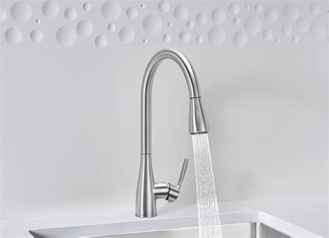 BLANCO ATURA Kitchen Faucet with Pull Down Spray   Blanco