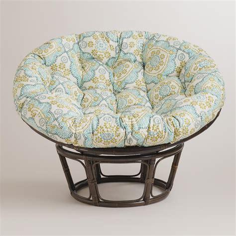 world market chair cushion white mosaic papasan chair cushion world market